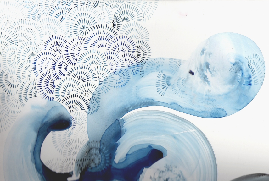Breath Painting in Blue by Betsy McCall