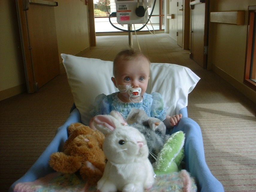 Easter at Lucille Packard Children's Hospital. Sans kidneys.